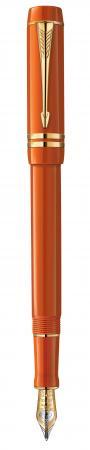 Перьевая ручка Parker Duofold F77 Centennial Historical Colors Big Red GT черный 0.8 мм перо F позол. 23 К 1907188 ручка перьевая parker im premium historical colors 1892641 big red ct f перо сталь нержавеющая подар кор