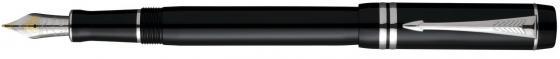 Перьевая ручка Parker Duofold F89 Black PT Internationa F S0690560 ювелирные ручки parker ручка перьевая duofold prestige black shevron