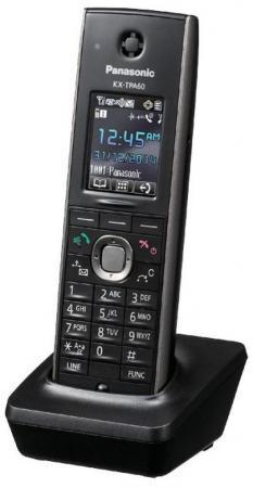 Дополнительная трубка DECT Panasonic KX-TPA60RUB черный радиотелефон dect panasonic kx tgh212rub дополнительная трубка kx tgha20 черный