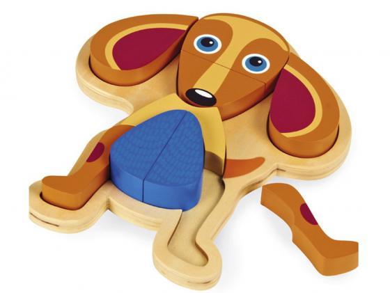 Пазл 10 элементов Oops Собака О 16002.22 деревянный пазл oops собака 9 элементов