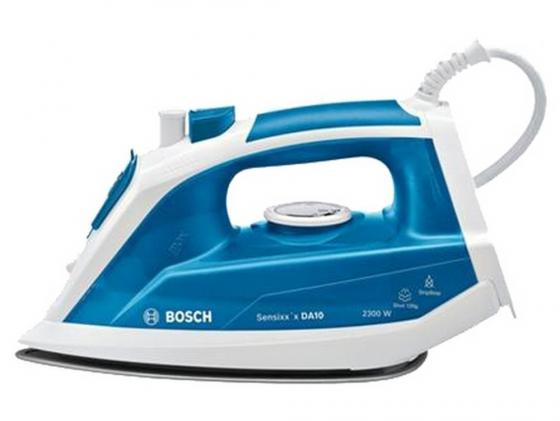лучшая цена Утюг Bosch TDA 1023010 2300Вт пар.удар 120 г/мин бело-синий