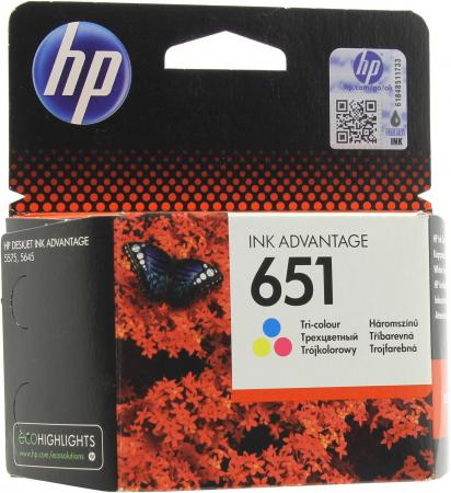 Картридж HP IC-HC2P11A 651 для HP DeskJet Ink Advantage 5575 DeskJet Ink Advantage 5645 300 Многоцветный C2P11AE мфу hp deskjet ink advantage 3775 t8w42c
