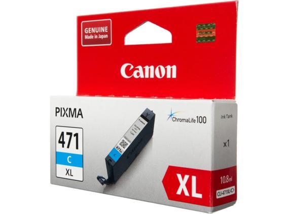 Картридж Canon CLI-471XLC для Canon PIXMA MG5740 PIXMA MG6840 PIXMA MG7740 715 Голубой 0347C001 картридж canon pgi 470 pgbk для canon pixma mg5740 pixma mg6840 pixma mg7740 300 черный 0375c001