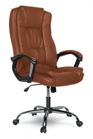 Кресло руководителя College XH-2222 кожа коричневый цена