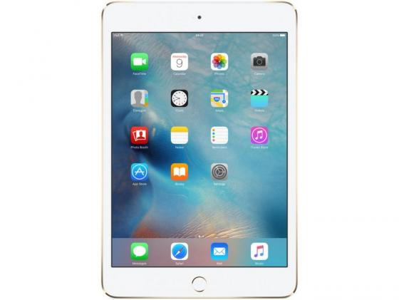 Планшет Apple iPad mini 4 7.9 128Gb золотистый 3G Bluetooth LTE Wi-Fi iOS MK782RU/A планшет apple ipad 9 7 128gb gold 3g wi fi bluetooth lte ios mrm22ru a