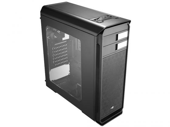 Корпус ATX Aerocool Aero-500 Window Black Edition Без БП чёрный