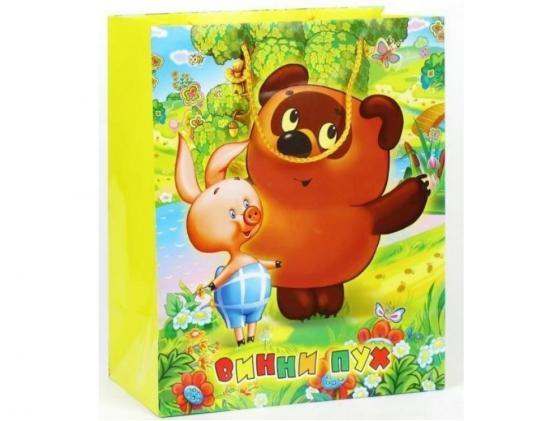 Пакет подарочный Весёлый Праздник Винни Пух 33x46х20 см CLRBG-WP-03 пакет подарочный весёлый праздник мама для мамонтёнка 33x46х20 см clrbg em 03
