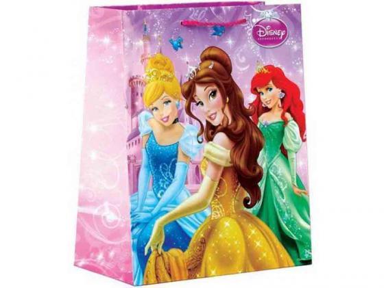 Пакет подарочный Весёлый Праздник Disney Принцессы 33x46х20 см CLRBG-DP-03 пакет подарочный весёлый праздник мама для мамонтёнка 33x46х20 см clrbg em 03