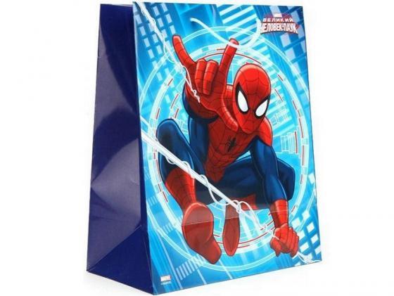 Пакет подарочный Весёлый Праздник Человек-паук 33x46х20 см CLRBG-SPM-03 цена 2017
