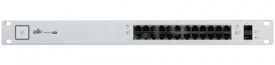 Коммутатор Ubiquiti UniFi Switch 24 500W управляемый UniFi 24 порта 10/100/1000Mbps PoE(500W) 2xSFP US-24-500W(EU) unifi switch us 48 500w 802 3af at managed poe gigabit switch with sfp ubnt unifi switch