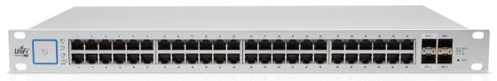 Коммутатор Ubiquiti UniFi Switch 48 500W управляемый UniFi 48 портов 10/100/1000Mbps PoE(500W) 2xSFP 2xSFP+ US-48-500W(EU) wi fi мост ubiquiti litebeam 5ac 23 lbe 5ac 23 eu