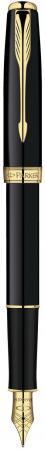 Перьевая ручка Parker Sonnet F530 LaqBlack GT 0.8 мм S0833860 перьевая ручка parker sonnet f530 essential laqblack сt перо 18ct f s0833880