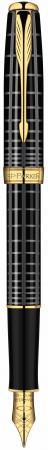 Перьевая ручка Parker Sonnet F531 Dark Grey Laquer GT 0.8 мм S0912440 parker ручка роллер parker sonnet t531 dark grey laquer ct parker s0912410