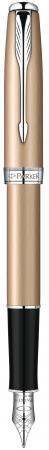 Перьевая ручка Parker Sonnet F540 Pink Gold CT 0.8 мм S0947260 ручка перьевая parker sonnet f531 s0912390 dark grey laquer ct f перо золото 18k подар кор