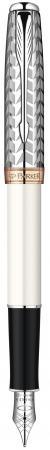 Перьевая ручка Parker Sonnet F540 Pearl Metal PGT 0.8 мм S0947310 parker ручка 5th mode ingenuity slim taupe and metal pgt