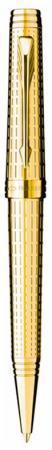 Шариковая ручка поворотная Parker Premier DeLuxe K562 Chiselling GT черный синий M S0887960 конвертор поворотный parker deluxe
