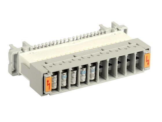 цена Магазин грозоразрядников ITK PLCAS-0A10P на 10 пар для защиты плинтов аналог Krone пустой