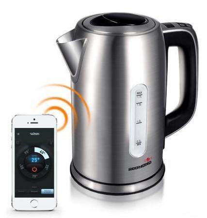 Чайник Redmond RK-M171S 2400 Вт серебристый 1.7 л металл чайник электрический redmond rk m171s