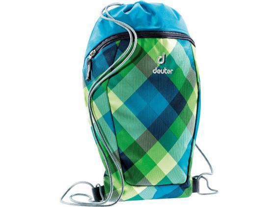 Мешок для сменной обуви SCHOOL SNEAKER BAG СИНЕ-ЗЕЛЕНАЯ КЛЕТКА DEUTER 3890115-3216 deuter giga blackberry dresscode