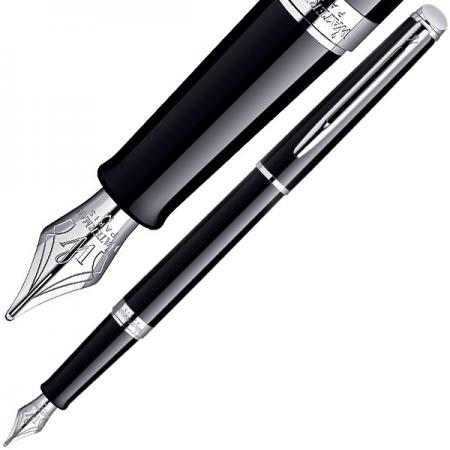 Перьевая ручка Waterman Hemisphere Mars Black CT синий F перо F, S0920510 ручка waterman s0952360