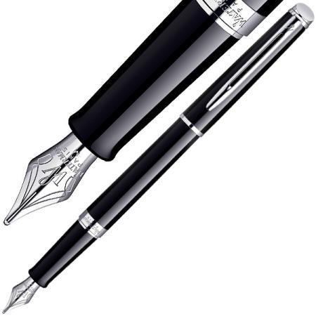 Перьевая ручка Waterman Hemisphere Mars Black CT синий F перо F, S0920510 ручка перьевая waterman hemisphere mattblack gt перо f черный s0920710