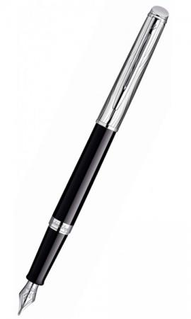 Перьевая ручка Waterman Hemisphere Deluxe Black CT синий F перо F S0921090 ручка waterman s0952360