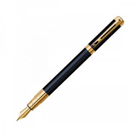 Перьевая ручка Waterman Perspective Black GT черный F перо F позолоченные детали S0830800 ручки перьевые waterman perspective black gt