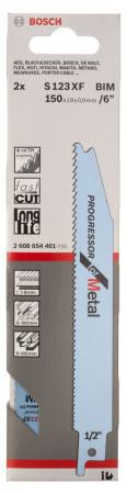 Набор пилок для сабельных пил Bosch S 123 XF 2шт 2608654401 набор пилок сабельных bosch s 644 d