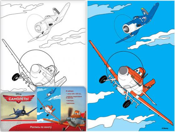 Набор для росписи по холсту Disney Самолеты от 5 лет 26151 набор для росписи по холсту креатто кошечка от 3 лет 30173