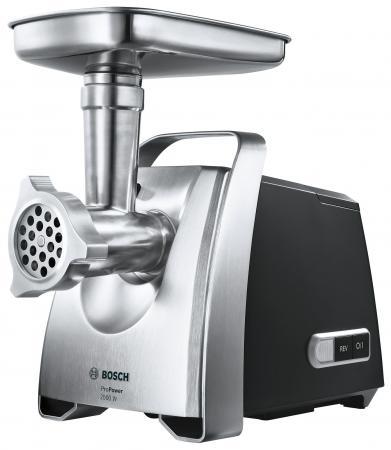 Электромясорубка Bosch MFW68660 800 Вт серебристый чёрный цена и фото