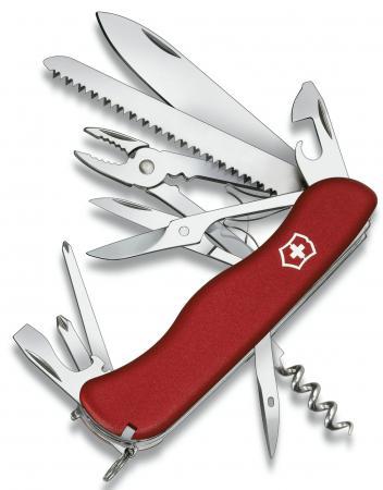 Нож перочинный Victorinox Hercules 0.9043 с фиксатором лезвия 18 функций красный нож перочинный victorinox hercules 0 9043 с фиксатором лезвия 18 функций красный