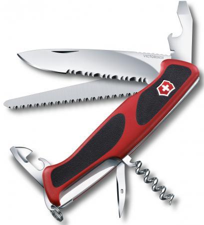 Нож перочинный Victorinox RangerGrip 155 0.9563.WC 130мм 12 функций красно-чёрный нож перочинный victorinox rangergrip 155 0 9563 wc 130мм 12функций красный черный карт коробка