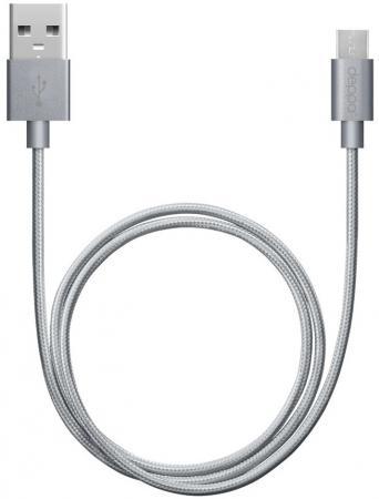 Кабель microUSB 1.2м Deppa 72192 круглый графит кабель для сервера dell sas connector external cable 2м 470 11676r 470 11676r