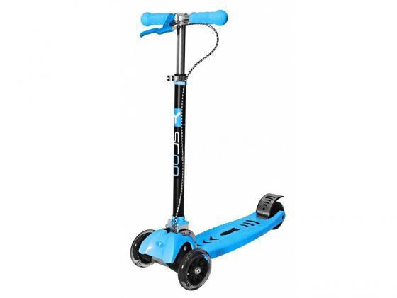 Самокат трехколёсный Y-SCOO Maxi City RT Shine Gagarin синий 4972 самокат трехколёсный y scoo maxi city rt shine gagarin синий 4972