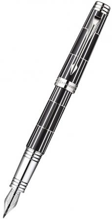 Перьевая ручка Parker Premier Luxury CT F565 F перо золото 18 K перьевая ручка visconti опера демо кристалл прозр см перо стал хром 18 f vs 651 00f