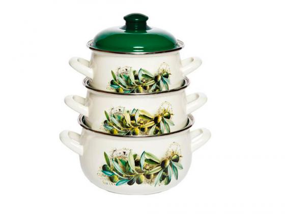 Набор посуды Interos 15231 Маслины кастрюля interos 15231 маслины 5 7 л углеродистая сталь