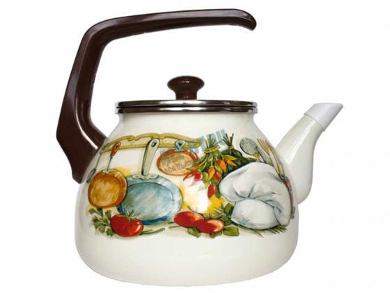 Чайник INTEROS 15156 Кухня белый рисунок 3 л металл цена