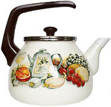 Фото - Чайник INTEROS 15157 Аппетит 3 л металл белый рисунок чайник interos 15157 аппетит 3 л металл белый рисунок