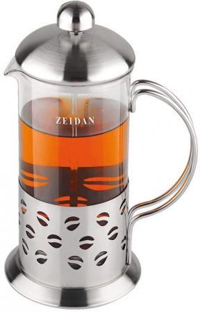 Френч-пресс Zeidan Z-4074 серебристый 0.35 л металл/стекло термокружка zeidan z 9056 0 45л серебристый жёлтый