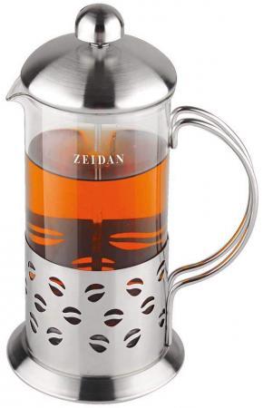 Френч-пресс Zeidan Z-4076 0.8 л металл/стекло серебристый