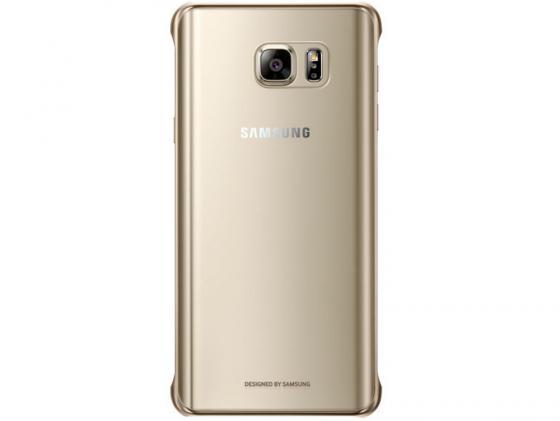 Чехол Samsung EF-QN920CFEGRU для Samsung Galaxy Note 5 СlCover золотистый чехол для samsung galaxy note 5 n920 samsung glossycover золотистый