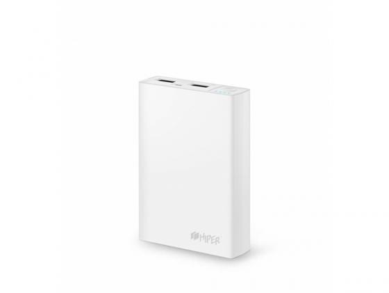 Портативное зарядное устройство HIPER Power Bank RP10000 10000мАч белый портативное зарядное устройство hiper rp10000 10000 мач
