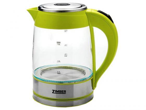 Чайник Zimber ZM-10818 2000 Вт 1.8 л металл/стекло зелёный