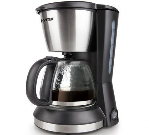 Кофеварка Vitek VT-1506 BK 550 Вт черный цена и фото