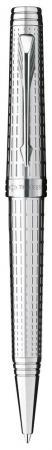 Шариковая ручка поворотная Parker Premier DeLuxe K562 Chiselling ST черный M S0888000 parker premier custom tartan st s0887920