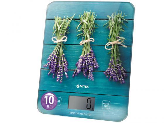 Весы кухонные Vitek VT-2415 B электронные синий с рисунком кухонные весы аксион вке 21