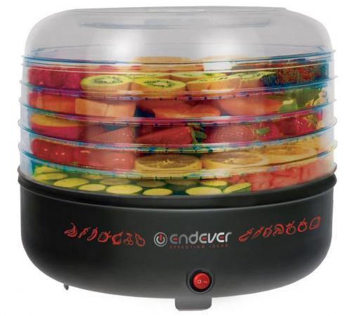 Сушка для овощей и фруктов Endever Skyline FD-57 360Вт черный zelmer zfd2250w сушка для овощей и фруктов