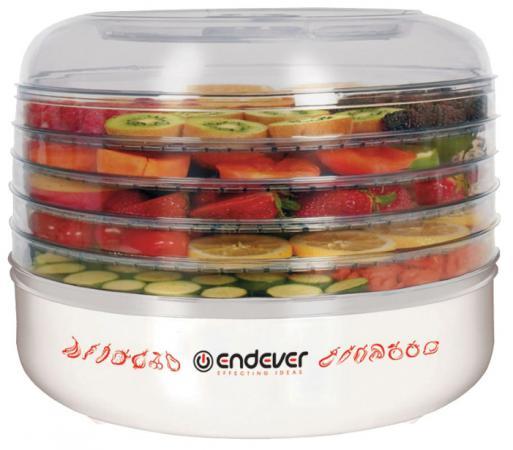 Сушка для овощей и фруктов Endever Skyline FD-56 360Вт белый zelmer zfd2250w сушка для овощей и фруктов