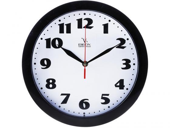 Часы настенные Вега П 1-6/6-45 часы настенные вега п 1 6 6 6 чёрный