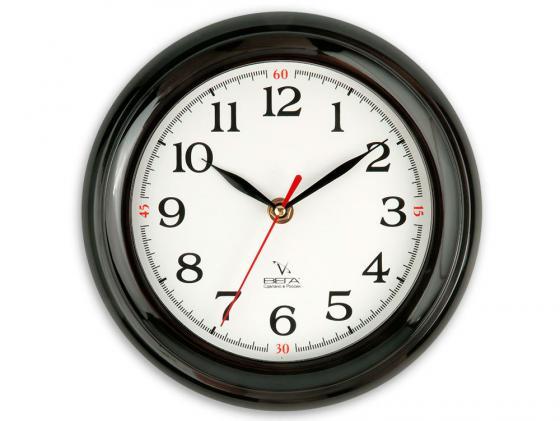 Часы настенные Вега П 6-6-18 чёрный белый часы настенные вега п4 6 6 80 чёрный